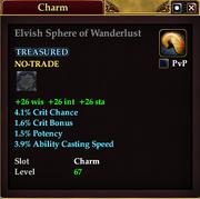 Elvish Sphere of Wanderlust