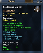 Shadowfire Slippers