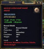 Ancient cedarwood round shield