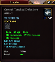 Growth Touched Defender's Armlet