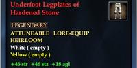 Underfoot Legplates of Hardened Stone