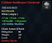 Coldain Soothsayer Greatcoat