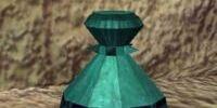 A hardened clay vase