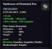 Vambraces of Elemental Fire