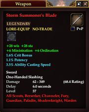 Storm Summoner's Blade