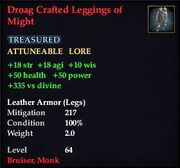 Droag Crafted Leggings of Might