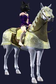 Yellow-saddled Dervish Destrier horse