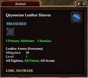 Qeynosian Leather Sleeves