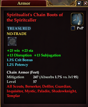 Spiritualist's Chain Boots of the Spiritcaller