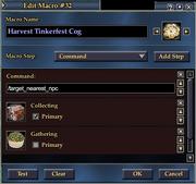 Harvest Tinkerfest Cog Macro