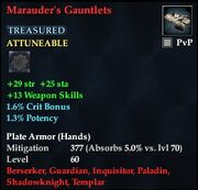 Marauder's Gauntlets (Treasured)