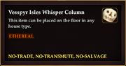 Vesspyr Isles Whisper Column
