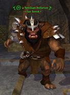 A Serilian believer (bugbear)