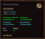Wyvern Eye Ring