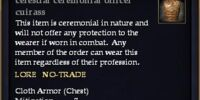 Celestial ceremonial officer cuirass