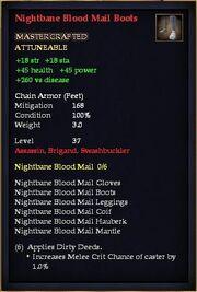 Nightbane Blood Mail Boots