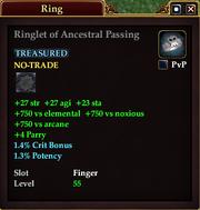 Ringlet of Ancestral Passing