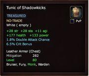 Tunic of Shadowkicks