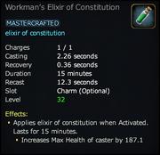 Workman's Elixir of Constitution