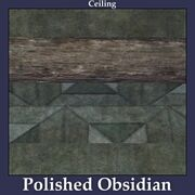 Ceiling Polished Obsidian