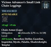 Vicious Advancer's Small Link Chain Leggings