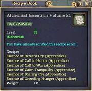 Alchemist Essentials Volume 51
