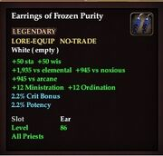 Earrings of Frozen Purity