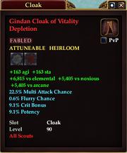 Gindan Cloak of Vitality Depletion