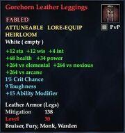 Gorehorn Leather Leggings