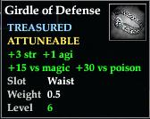 Girdle of Defense