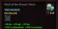 Stud of the Frozen Voice