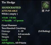 Tin Sledge