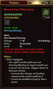 Blessed Iron Tribal Spear