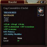 Cog Constable's Circlet