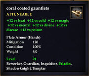 Coral Coated Gauntlets