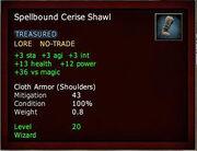 Spellbound Cerise Shawl