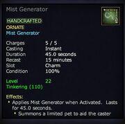 Mist Generator