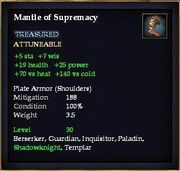 Mantle of Supremacy