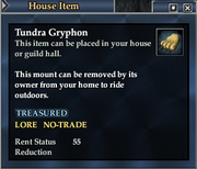 Tundra Gryphon (House Item)