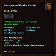 Breastplate of Death's Respite