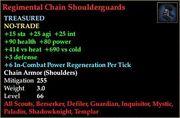 Regimental Chain Shoulderguards
