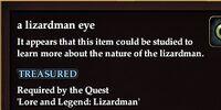 A lizardman eye