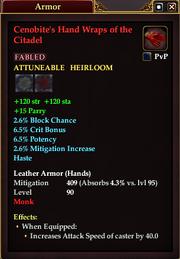 Cenobite's Hand Wraps of the Citadel