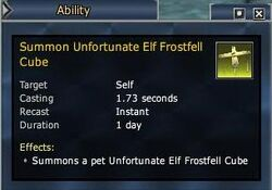 Unfortunate Elf Frostfell Cube