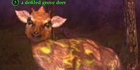 A defiled grove deer