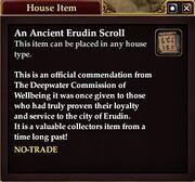 An Ancient Erudin Scroll