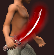 Ancient Scimitar of Wounding (Equipped)