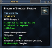 Bracers of Steadfast Posture
