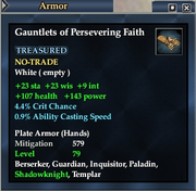Gauntlets of Persevering Faith
