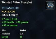 Twisted Wire Bracelet